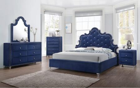 Meridian CAROLINEKPBDM2NC Caroline King Bedroom Sets