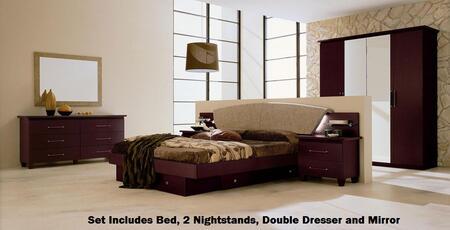 VIG Furniture VGCAMISSITALIA03Q Modrest Miss Italia Series 5 Piece Bedroom Set