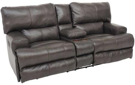 Catnapper 764589128309308309 Wembley Series Leather Reclining with Metal Frame Loveseat