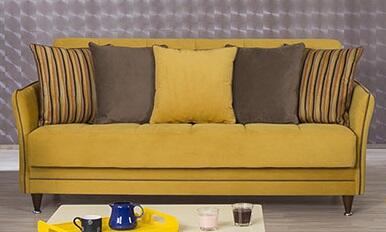 01 casamode sofabed Bellina Mustard   Copy