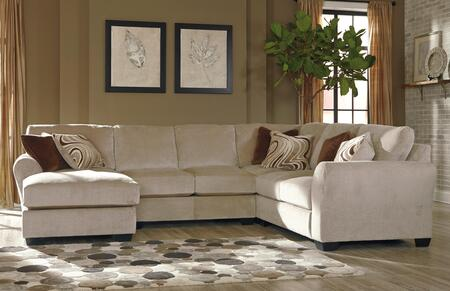 Milo Italia Jazmyn MI-3447BTMP 4-Piece Sectional Sofa with X Arm Facing Corner Chaise in Fleece Color