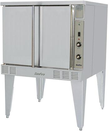 """Garland SCO-GS- 38"""" Sunfire Series NSF Certified Commercial Gas Convection Oven with X BTU, 60/40 Dependent Solid Door, 5 Chrome Plated Oven Racks and 3/4 HP Motor Single Speed Fan, in Stainless Steel:"""
