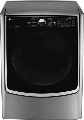 "LG DLEX5000 27"" Energy Star Electric Dryer with 7.4 cu. ft. Capacity, 5 Temperature Settings, 14 Drying Programs, TurboSteam Technology, Integrated Electronic Control Panel and Never Rust S.S. Drum, in"