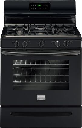 "Frigidaire FGGF3030PB 30"" Gallery Series Gas Freestanding Range with Sealed Burner Cooktop, 5 cu. ft. Primary Oven Capacity, Storage in Black"