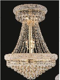 """J & P Crystal Lighting Bangle Collection SP1800D24 24"""" Wide Chandelier in X Finish"""