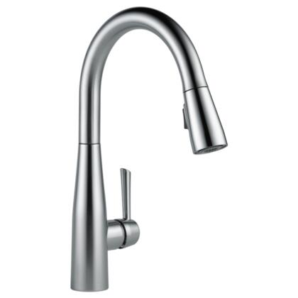 Essa  9113-AR-DST Delta Essa: Single Handle Pull-Down Kitchen Faucet in Arctic Stainless