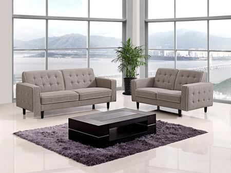 VIG Furniture VGMB1369GRY Modern Fabric Living Room Set