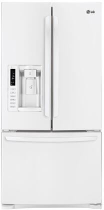 LG LFX25978SW  French Door Refrigerator with 24.9 cu. ft. Total Capacity 4 Glass Shelves