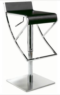 Chintaly 0815ASBLK  Bar Stool