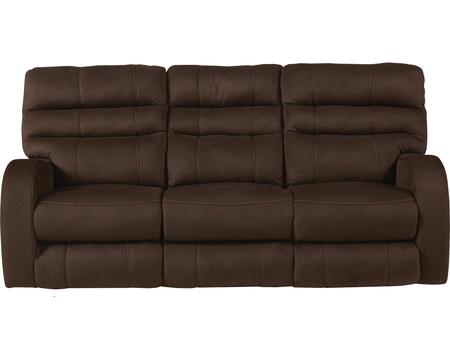 "Catnapper Kelsey Collection 61901- 83"" Power Lay Flat Reclining Sofa with Power Headrest, Radius Track Arms, Padded Polyester Fabric and Waterfall Back in"