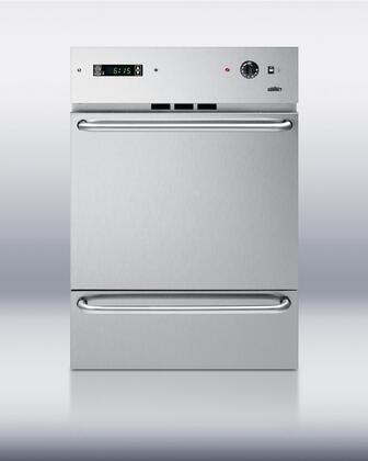 "Summit WTM7212KWSS 24"" Single Wall Oven 