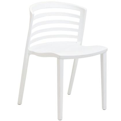 EdgeMod EM101WHI Elvin Series Contemporary Plastic Frame Dining Room Chair