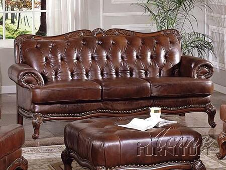 Acme Furniture 05945A Birmingham Series Stationary Leather Sofa