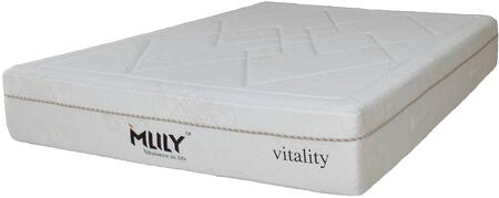 """MLily Ambiance Collection AMBIANCE11 11"""" Mattress with Temperature Neutral Memory Foam + Gel, Silk Blended Fabric, Flow Ventilated Foam and Removable Cover in White Color"""
