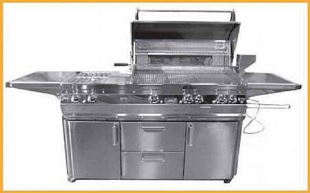FireMagic E660S2E1P71W Freestanding Liquid Propane Grill
