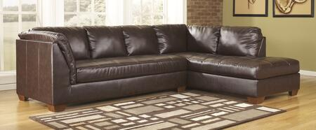 Sectional with LAF Sofa and RAF Corner Chaise in Mahogany