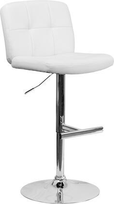 Flash Furniture DS829WHGG Residential Vinyl Upholstered Bar Stool