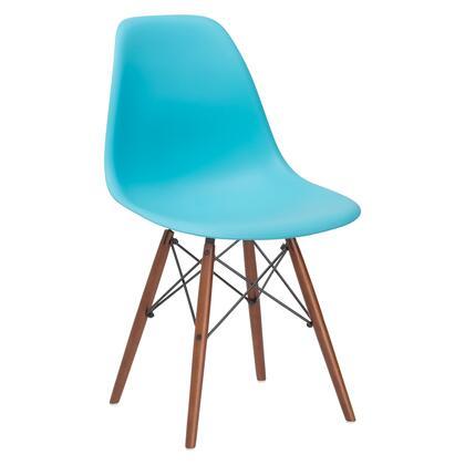 EdgeMod EM105WALAQU Vortex Series Modern Wood Frame Dining Room Chair