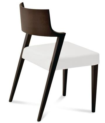 Domitalia LIRICAWECBW02 Lirica Series Leather Wood Frame Accent Chair