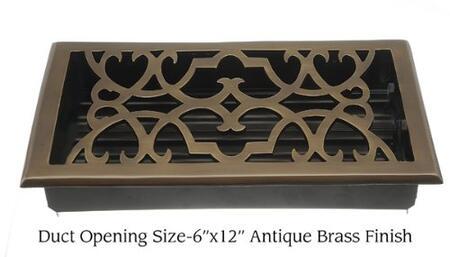 Brass Elegans 120HR Victorian Scroll Design Register
