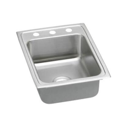 """Elkay LRADQ1722550 17"""" Top Mount Self-Rim Single Bowl 18-Gauge ADA Compliant Stainless Steel Sink"""
