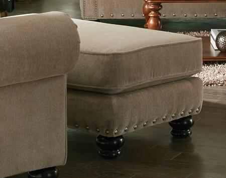 """Jackson Furniture Avery Collection 3261-10- 44"""" Ottoman with Nail Head Accents, Turned Legs and Chenille Fabric Upholstery in"""