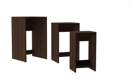 Accentuations 11AMC Accentuations by Manhattan Comfort Refined 3 - Saffle Nested Side Table 1.0 with 1 Shelf