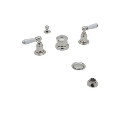 Rohl U.3960L- Perrin and Rowe Collection Edwardian Five Hole Bidet With Lever Handles: