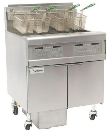 frymaster fpgl230 2rca gas floor fryer with full left frypot right split pot and automatic top off 150 000 btu