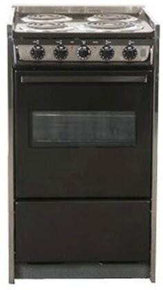 "Summit TEM115RW 20"" Professional Series Slide-in Electric Range with Coil Cooktop Storage 2.46 cu. ft. Primary Oven Capacity 