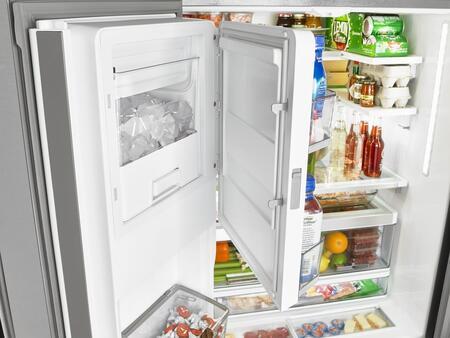 "Whirlpool WRF992FIFx 36"" French Door Refrigerator with 31.53 cu. ft. Capacity, Infinity Slide Shelf, In-Door-Ice Storage, Water and Ice Dispenser, in"