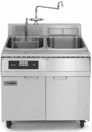 """Frymaster 17SMS- 37"""" Pasta Magic Series Commercial Gas Pasta Cooker with 17 kw Electrical Input, 8.75 Gallon Capacity, Programmable Timer Controller, Water Tank, Swing Faucet and Basket Lifts: Stainless Steel"""