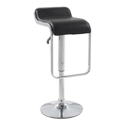 Fine Mod Imports FMI2124BLACK Commercial or Residential Leatherette Upholstered Bar Stool