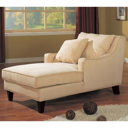 Coaster 500029 Accent Seating Series Transitional Microfiber Wood Frame Chaise Lounge