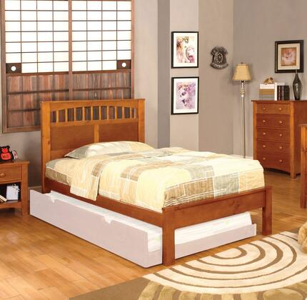 Furniture of America CM7904OAKTBED Carus Series  Twin Size Bed