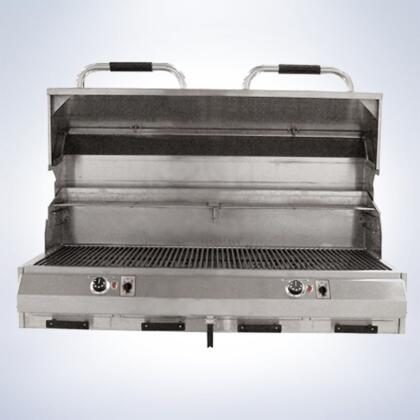 """Electri Chef 8800EC1056XX48 8800 Series 48"""" Grill With 18 Gauge Stainless Steel Construction, Dual Digital Controls, Automatic Shut-Off, Stainless Steel Cooking Grids, Easy Clean Drip Trays, in Stainless Steel"""