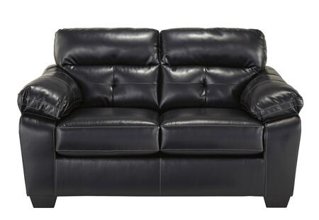 Benchcraft Bastrop DuraBlend 4460X35 Loveseat with Thick Padded Arms, Tufted Back Cushions with Headrest and Tapered Block Feet in