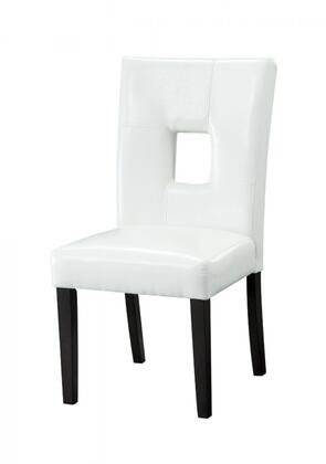 Coaster 103621WHT Newbridge Series Casual Wood Frame Dining Room Chair