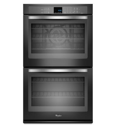 "Whirlpool WOD93EC0AE 30"" Double Wall Oven, in Black Ice"
