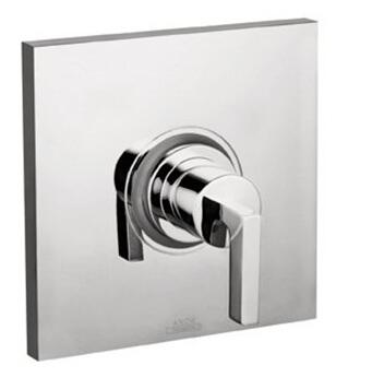 Axor 39414 Axor Citterio Pressure Balanced Valve Trim Only with Metal Lever Handle, and Square Escutcheon: