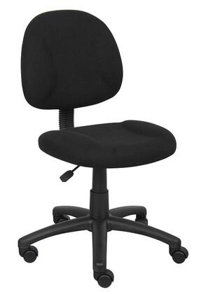 "Boss B315 35"" Deluxe Posture Chair with Thick Padded Seat and Back, Waterfall Seat, Adjustable Back Depth, Seat Height Adjustment and 5 Star Nylon Base"