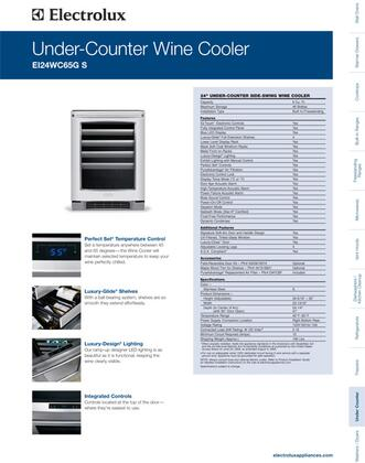 Electrolux Ei24wc65gs 23 81 Inch Built In Wine Cooler In