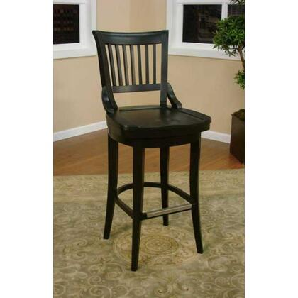 """American Heritage Liberty Series 134755 34"""" Traditional Tall Bar Stool with Full Bearing Swivel, Fully integrated Back Support, and Adjustable Leg Levelers"""