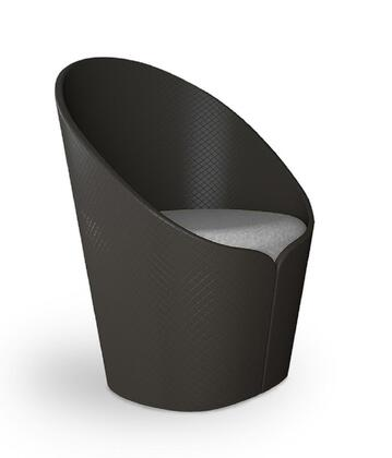 "Vifah IN12 25"" Butterfly Modern Fiber Glass Petal Lounge Chair with Removable Seat Cushion and Fabric Upholstery in"