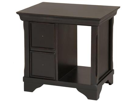Stein World 228021 Orleans Series Traditional Rectangular 2 Drawers End Table