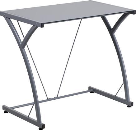 Flash Furniture NANWKSD02SILGG Contemporary Standard Office Desk
