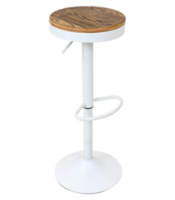 "LumiSource Dakota BS-TW-DAK 23"" - 31"" Barstool with 360-Degree Swivel, Wood Seat and Adjustable Height in"