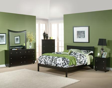 Atlantic Furniture METOFWHFL Metro Series  Full Size Bed