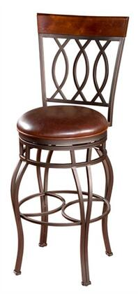 American Heritage 130849PPL32 Treviso Series Residential Leather Upholstered Bar Stool
