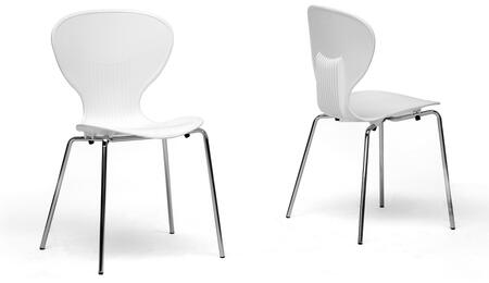 Wholesale Interiors DC2WHITE Boujan Series  Dining Room Chair